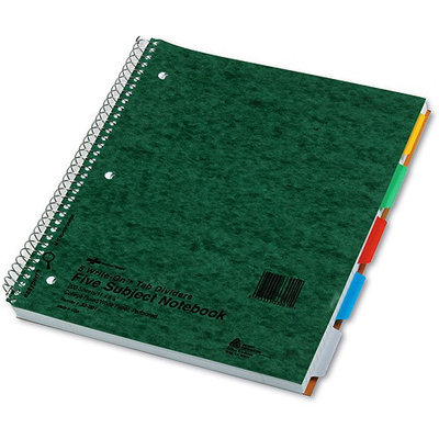 tional Brand National® Brand Five-Subject Wirebound Notebook with Write-On Tabs