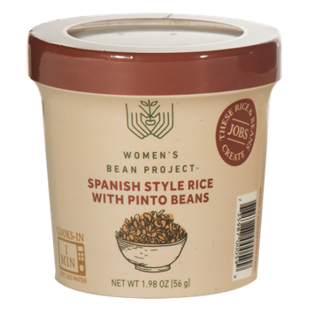Women's Bean Project Ready-To-Eat Spanish Style Rice with Pinto Beans Cup, 1.98 oz. cup