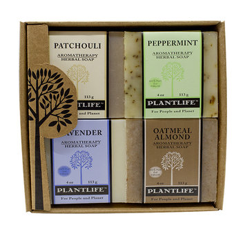 Plantlife Aromatherapy Herbal Soap 4 Pack Combo - Earth Gift Set