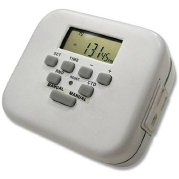 Amertac Indoor Digital Timer With Separately Controllable Outlets Westek Led Lightbulbs