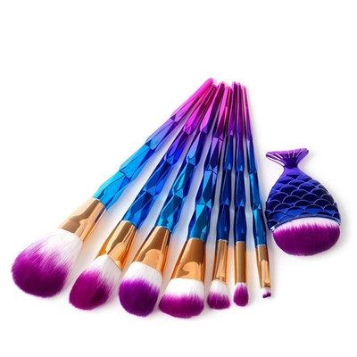 Dingji Diamond Big Fish Tail Makeup Brush Set Dazzle Glitter Foundation Brushs