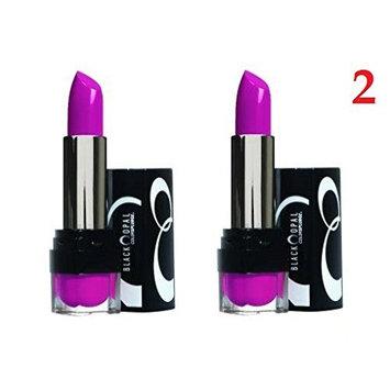(2 Pack) - VALUE PACK! - Black Opal Color Splurge Luxe Lipstick, Fashion Fuchsia, 0.12 oz : Beauty