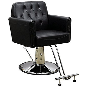 Funnylife PU Material Black Vintage Salon Spa Styling Work Station Chair