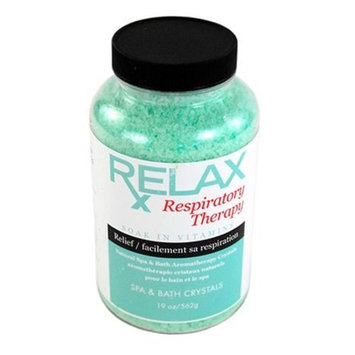 Respiratory Rx Bath Crystals -19 Oz- Therapeutic Natural Mineral Salts & Vitamins – Breath Relief for Spas, Jacuzzi, Whirlpool