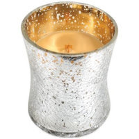 candle rings WoodWick Holiday Metallic Crackle Glass Candle