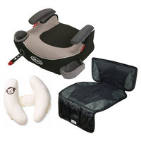 Graco Affix Backless Booster Car Seat with Car Seat Mat + Cushioned Head Support, Pierce