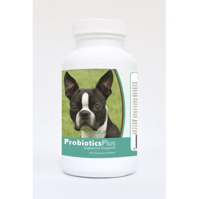 Healthy Breeds Pet Supplements 60 Boston Terrier Probiotic and Digestive Support Chewable Tablets for Dogs