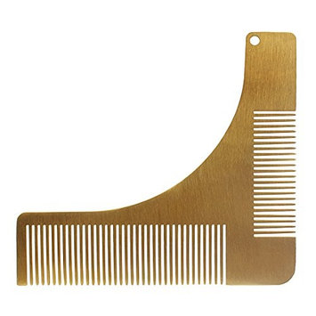 Andux Land Men's Beard Comb Stainless Steel Beard Styling Shaping TemplateBXGSZ-01 (G