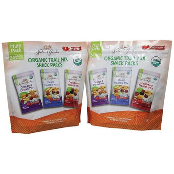 Nature's Garden Organic Trail Mix Snack Packs, Multi Pack 1.2 oz - Pack of 48 (Total 57.6 oz)