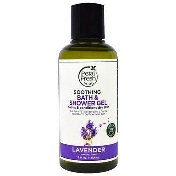 Petal Fresh, Pure, Soothing Bath & Shower Gel, Lavender, 3 fl oz (90 ml)