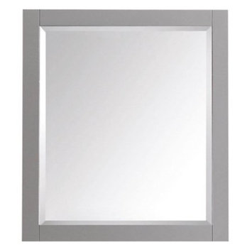 Avanity Transitional 32 in. L x 28 in. W Framed Wall Mirror in Chilled Gray