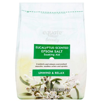 Equate Beauty Eucalyptus-Scented Epsom Salt Soaking Aid, 1.5 lb