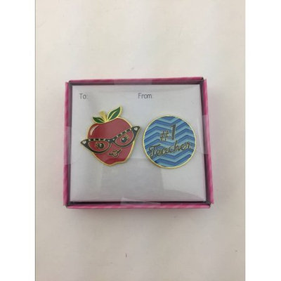 Qtop Valentine Apple #1 Pin Set.