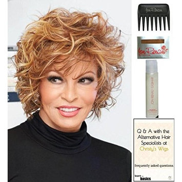 Chic Alert Wig by Raquel Welch, 15 Page Christy's Wigs Q & A Booklet, 2oz Travel Size Wig Shampoo, Wig Cap & Wide Tooth Comb COLOR SELECTED: RL1125