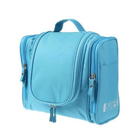 Travel Toiletry Bag Waterproof Dopp Kit Bathroom Storage Organizer with Hanging Hook for Men Women Toiletries and Travel Accessories, Large Capacity (Blue)