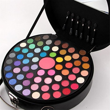 PhantomSky 65 Colors Eyeshadow Palette Makeup Cosmetic Contouring Combination with Blusher and 6 Brushes - Perfect for Professional and Daily Use