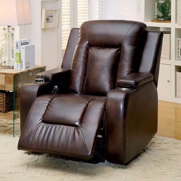 Benzara Moya Comforting Recliner, Contemporary Style, Brown
