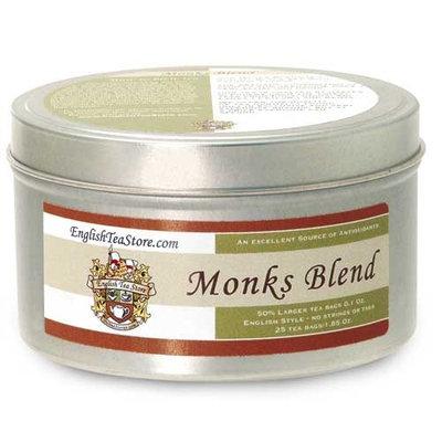 Monks Blend Flavored Black Tea - Teabags - 25 Teabag Tin