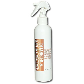 Detangler and leave in hair conditioner 8 ounce spray