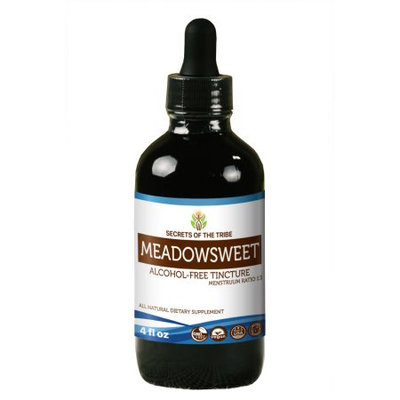 Nevada Pharm Meadowsweet Tincture Alcohol-FREE Extract, Organic Meadowsweet (Filipendula Ulmaria) Dried Herb 4 oz