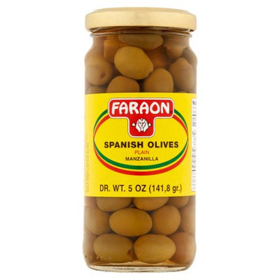 Faraon Foods Faraon Plain Manzanilla Spanish Olives, 5 oz