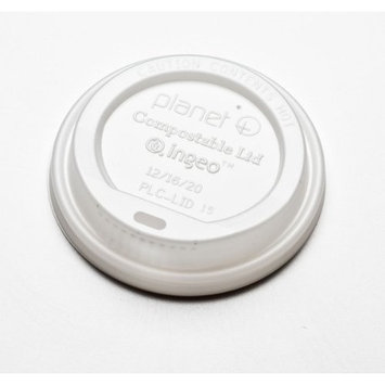 Biodegradable and Compostable Hot Cup Lids 10 through 16 Ounce (Case of 1000)
