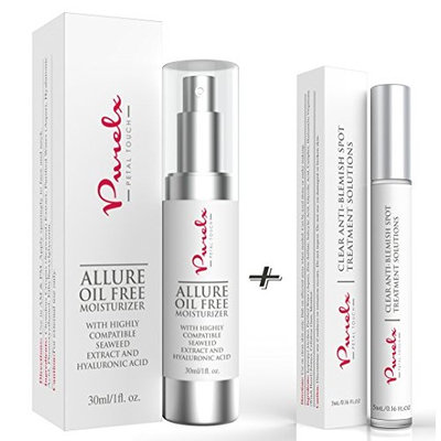 PureLx Acne and Oil Control Skincare Duo - Clear Anti Acne & Blemish Solution with Allure Oil Free Moisturizing Cream