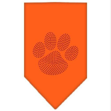 Mirage Pet Products 6760 SMOR Paw Red Rhinestone Bandana Orange Small