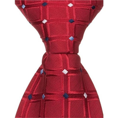 Matching Tie Guy 2646 R5 - 9.5 in. Zipper Necktie - Red With Squares, 6 to 18 Month