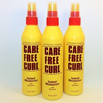 [VALUE PACK OF 3] CARE FREE CURL INSTANT MOISTURIZER 8oz w glycerine: Beauty