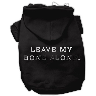 Mirage Pet Products 5442 SMBK Leave My Bone Alone Hoodies Black S 10