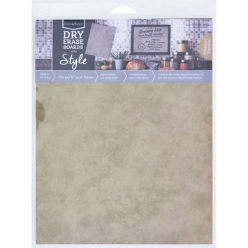 Crescent Cardboard Co Color Notes Dry Erase Board, 11' x 14', Taupe Plaster