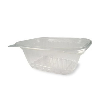World Centric's 100% Biodegradable, 100% Compostable 12 oz Corn PLA Rectangle Deli Containers and Lids (Package of 100)