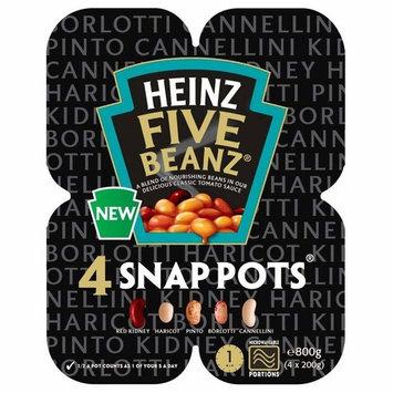 Heinz Five Beanz Snap Pots (4x200g)