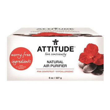 ATTITUDE, Natural Air Purifier, Pink Grapefruit, 8 oz (227 g) [Scent : Pink Grapefruit]