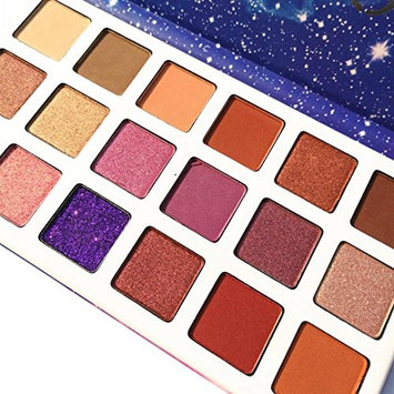 Eyebrow Cosmetic, Waterproof and Long-Lasting 18 Color Starry sky Shimmer Glitter Eye Shadow Plate Powder Matt Eyeshadow for Professional Makeup or Daily Use