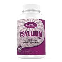 Psyllium Husk Seed Powder Capsules 725 mg by LuRoot Non-GMO Fiber Supplement
