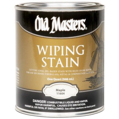 Masters 11616 Oil Based Wiping Stain, 0.5 pt Can, 500 sq-ft/gal, 116 Maple