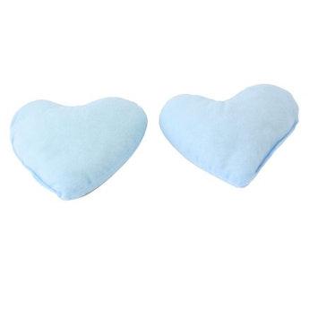 2 Pieces Light Blue Puppy Cat Pet Heart Style Lovely Neck Pillow Support Mat