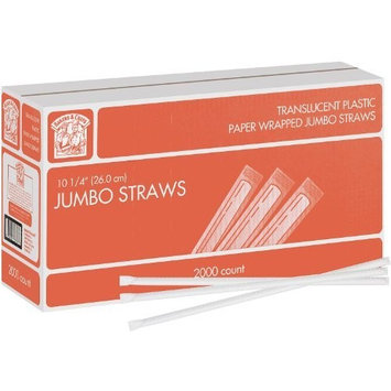 Bakers & Chefs™ Wrapped Jumbo Straws - 2,000 Ct.