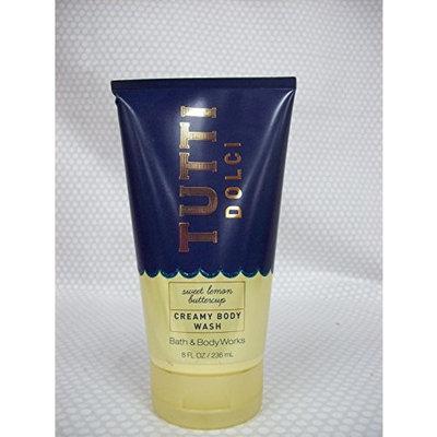 Bath and Body Works Creamy Body Wash 8 Ounce Tutti Dolci Sweet Lemon Buttercup
