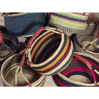 SHOPPING BASKET Ø 40 CM - HANDMADE GHANA BOLGA AFRICA - FAIR TRADE