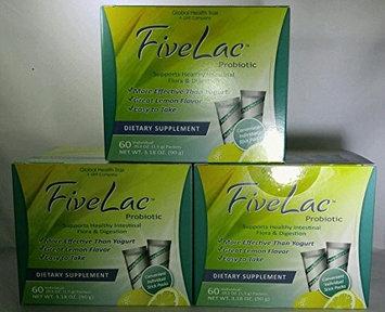 Global Health Trax Fivelac Probiotic Bonus 3 Pack 180 Pkts