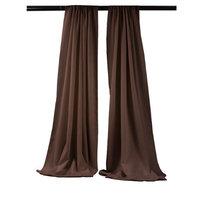 LA Linen BDpop96x58-Pk2-BrownP22 Polyester Poplin Backdrop Drape Brown - 96 x 58 in. - Pack of 2