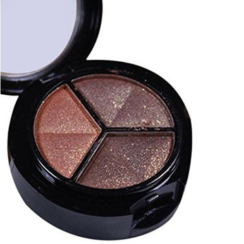 Eye Shadow Glitter Palettes,Makeupstore Professional Smoky Cosmetic Set 3 Colors Natural Matte Eyeshadow Natural Makeup Tools Palette Naked Nude Eye Shadow Glitter Cosmetic Set