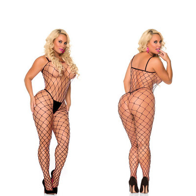 Rene Rofe Cocolicious Fenced In Fencenet Bodystocking - One Size