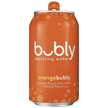 bubly Sparkling Water, Orange, 12 ounce Cans (Pack of 18)