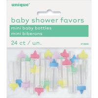 Unique Industries Plastic Mini Baby Bottles 24/Pkg-Assorted