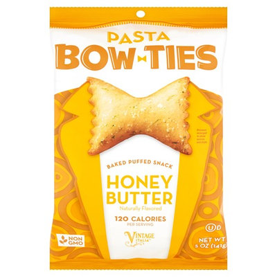 Vintage Italia Bow Ties Pasta Honey Butter Baked Puffed Snack, 5 oz, 12 pack