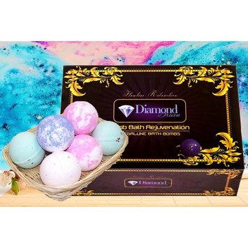 Bath Bombs Gift Set - Handmade Spa Bomb Fizzies - Spa Kit Bath Pearls & Flakes - Organic & Natural Ingredients - foam bath bombs - Infant Bath bombs For Gift Set By Diamond Driven (6 Pack)